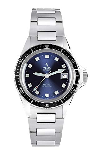 Yema Herren-Armbanduhr Superman Heritage Blue – Uhrwerk ETA 2824-2 – 500 Stück nummeriert – YSUP2018B-GMS