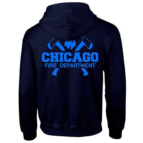 Chicago Fire Dept. - Sweatjacke mit Kapuze (Axt - Blue Edition) (S)