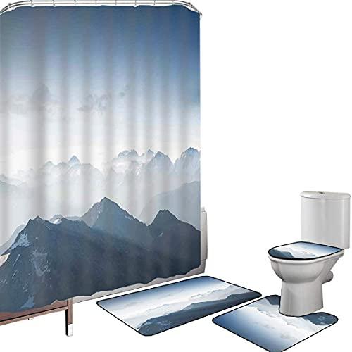 Juego de cortinas baño Accesorios baño alfombras Decoración de la granja Alfombrilla...