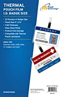 Royal Sovereign Heat Sealed Laminating Pouches 5 Mil ID Badge Size Punched with Clips Clear Gloss (RF05IDPC0025) by Royal Sovereign