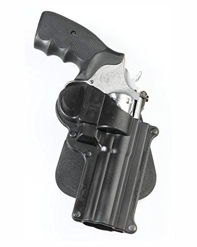 Fobus Tactical LK-4 Standard Right Hand Conceal Carry Polymer Paddle Holster For Smith&Wesson L&K Frame 4inch Barrel / Zastava R 357 M83, Taurus 65 / .357 Magnum - Black