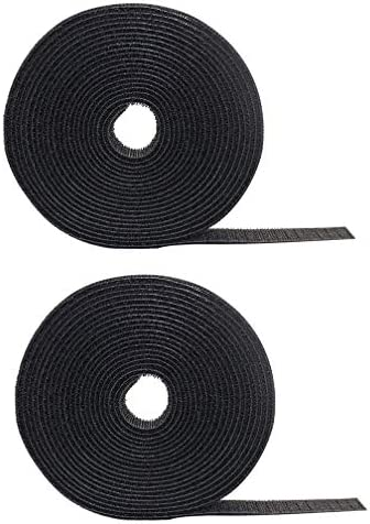 2 Pack Cable Fastening Tape Viaky 0 78 inch Single Wrap Hook Loop Cable Ties Reusable Cord Length product image