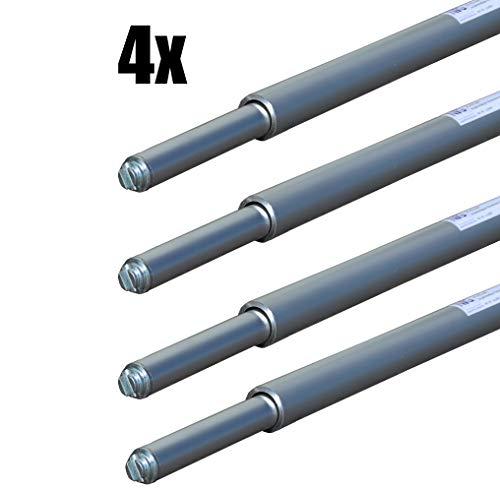 4 x Rundsperrbalken, Sperrstange, Klemmbalken, 2000-2400 mm, Kombizapfen 19/24mm