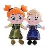 SDSG Frozen Princess Anna & Elsa Peluches 30Cm, Muñecas Niños Juguetes De Boda para Niñas Regalo De Cumpleaños