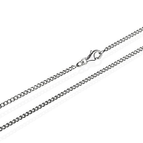 55cm 925 Argento 925 Argento rodiato Catena a cordolo in argento rodiato larghezza piena 1,80mm, 4,7g 5617