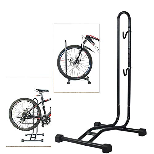 jialixing 2020 Upgrade Bike Stand Vertical Bike Rack,Upright Bicycle Floor Stand,Free Standing Adjustable Bike Garage Rack for Indoor Mountain/Road Bike Storage, Space Saving (2 in 1)