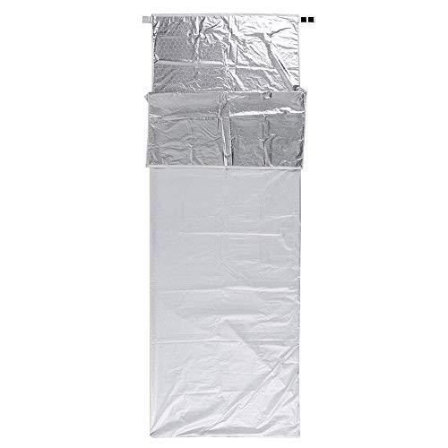 Lixada Portable Réchauffement Unique Sac De Couchage Réflecteur Verrouillage Température Camping en Plein Air Voyage Randonnée Sac De Couchage 200 * 72 cm