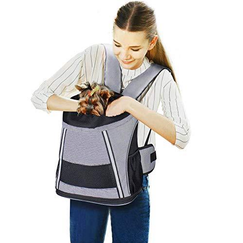 Maxmer Hunde Rucksäcke für kleine Hund Katze Tragetasche Faltbar Oxford Tuch + Atmungsaktiv Netzfenster für Welpen Katzen Reise (Lila/braun/grün/orange)
