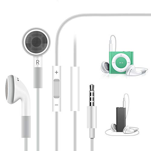 TITACUTE 3.5mm Kopfhörer, Kompatibel mit iPod Kopfhörer in Ear Ohrhörer Earbuds mit Volume Control Stereo Sport Geräuschisolierung Kopfhörer Kompatibel für iPod Shuffle 4. Gen, Nano 6. Generation