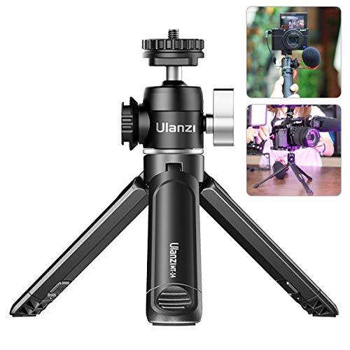 ULANZI U-Vlog Compact Camera Vlog Tripod Set, Mini Ball Head Hot Shoe Adapter w Cold Shoe Mic Light Stand Lightweight Handle Grip for Gopro/DJI Osmo Action/Pocket/Sony/Canon/Nikon DSLR Camera
