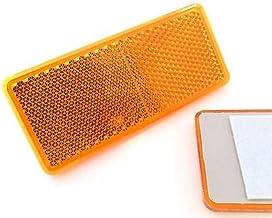 Paire de catadioptres Oranges r/éfl/échissants pour Jantes Rayons Roue de v/élo C41143 AERZETIX