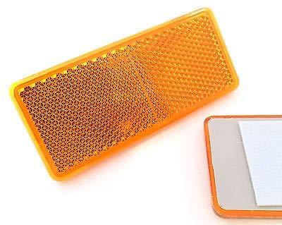 227s - Rechteckige Reflektoren - selbstklebend - geeignet für Anhänger - Orange - 90x40mm - 2 Stück