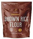 Brown Rice Flour, 2lb, Premium Brown Rice Flour Gluten Free, Rice Flour for Baking, Fine Brown Rice Flour Bulk, Superfine Rice Flour Tortillas,Natural, Non-GMO, Batch Tested, 2 Pound, From Canada.