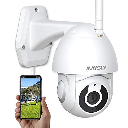 Security Camera Outdoor Wireless Joustory WiFi Cameras for Home Security 1080P with PTZ Night Vision Motion Detection 2 Way Audio Compatible with Alexa