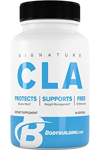 Bodybuilding Signature CLA Softgels | 1,000 MG Metabolism Support, Maintain Lean Muscle | 90 Servings