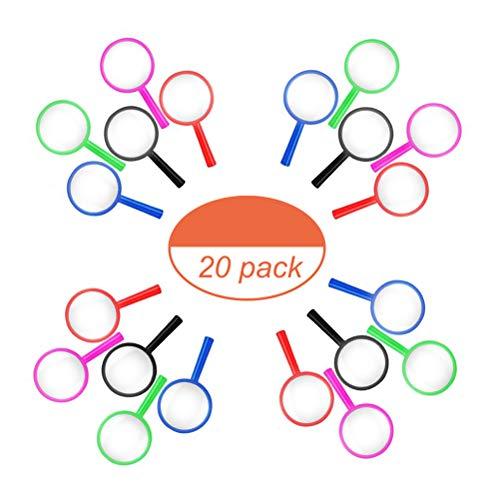 Kinder Lupen,20 Pack Bunt Mini Lupen aus Acryl Vergrößerun Gsglas Mitgebsel Kindergeburtstag für Detektiv Lupen für Jungen und Mädchen