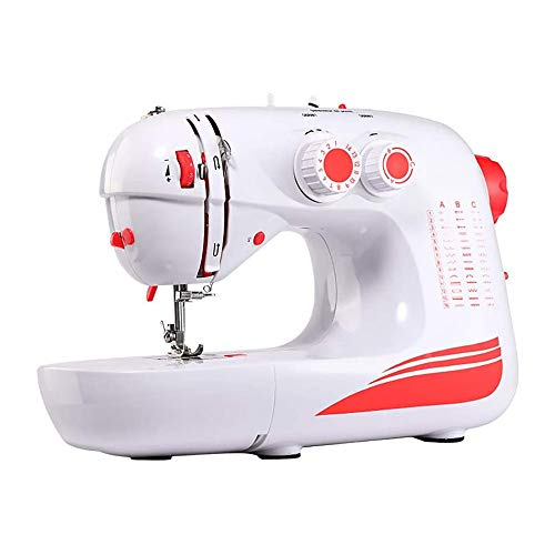 Big Save! QIYUE Portable Electric Sewing Machine with 42 Built-in Stitches, Automatic Needle Threade...