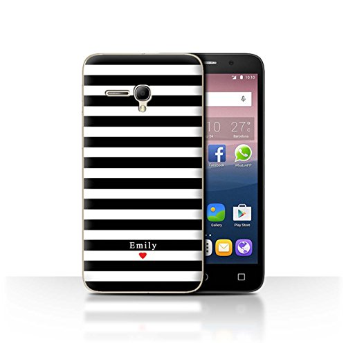Stuff4Phone Case/Cover/Skin/alcpop355/Custom Stripes/Striped Collection Coeur Rayure Noir