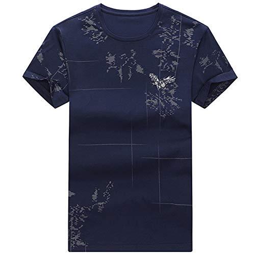 Mr.BaoLong&Miss.GO Hombres Nueva Camiseta De Manga Corta De Negocios De Moda Superior De Los Hombres Camisa De Manga Corta Hombres De Cuello Redondo Camiseta