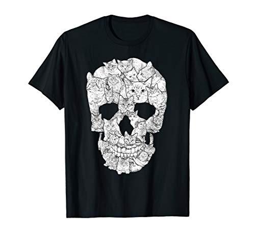 Cat Skull T-Shirt - Kitty Skeleton Halloween Costume Idea T-Shirt