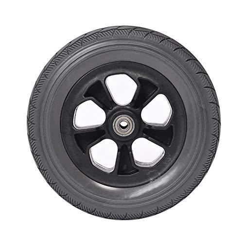 Neumático Silla De Ruedas Ruedas De Repuesto Para Silla De Ruedas Eléctricas De 8 Pulgadas / 20 Cm, Neumático Sólido Sin Inflado, Rueda Delantera Para Andador (negro, 1 Pieza)