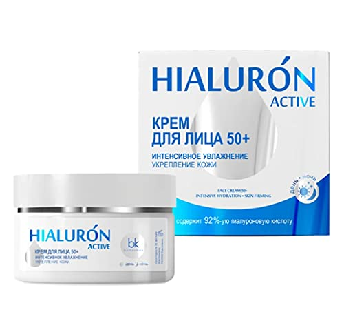 Face Cream 50+ Intensive Moisturising and Firming Skin Hialuron Active Belkosmex