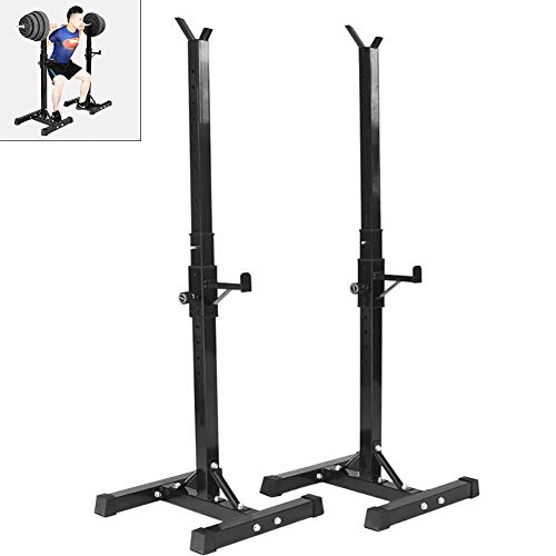 Yajun Adjustable Squat Rack Stands for Barbell Solid Steel Multifunction Sturdy Durable Heavy Duty Power Weight Support 200kg Max Load