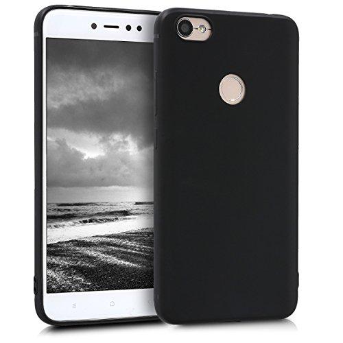 kwmobile Funda Compatible con Xiaomi Redmi Note 5A (4G) - Carcasa de TPU Silicona - Protector Trasero en Negro Mate
