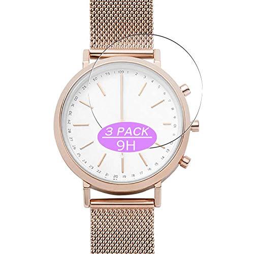 VacFun 3 Piezas Vidrio Templado Protector de Pantalla Compatible con Skagen Hybrid Smartwatch WATCH SIZE 36mm, 9H Cristal Screen Protector Película Protectora Reloj Inteligente