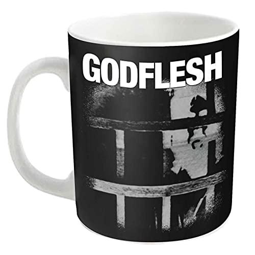 Godflesh Tasse À Café Decline And Fall Band Logo Nouveau Officiel Blanc Boxed