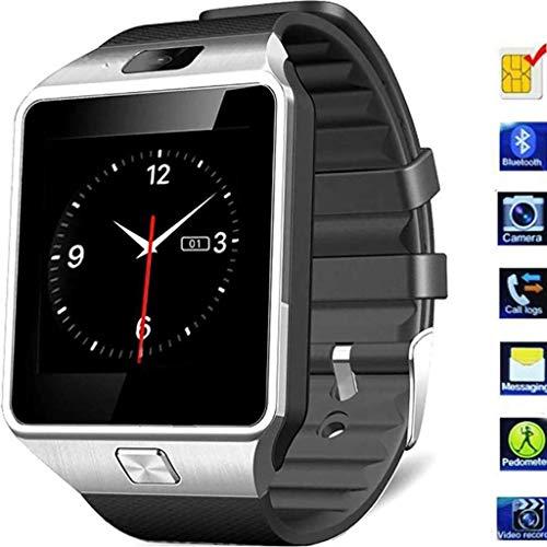 Bluetooth Smartwatch, Fitness Armbanduhr Mit SIM Card Slot, GSM Sport Watch, Activity Tracker Mit Kamera Pedometer, Smart Gesundheit Armbanduhr Schlaftracker,Schwarz