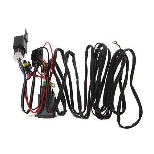 ZSYLOVE ZHANGSUYUAN Universal 12V 40A relé arnés de cableado con Interruptor on/Off Automóviles Fit Kit for el Coche LED luz de Niebla Cables adaptadores Sockets
