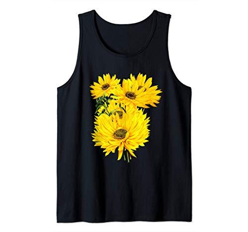 Tema de jardinería de grandes girasoles Camiseta sin Mangas