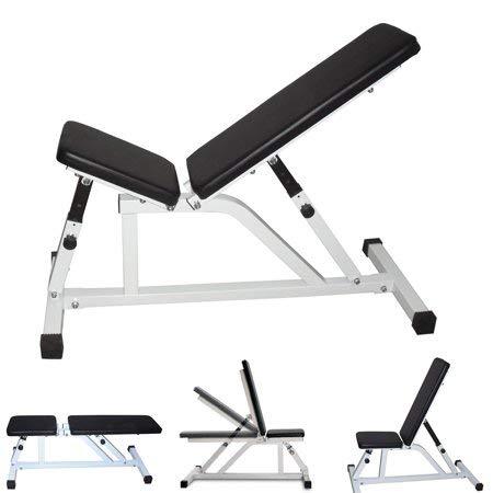 Banco de pesas ajustable, taburete inclinable para sentarse, mancuernas de fitness, banco de fitness, silla para entrenamiento de fuerza, gimnasio, entrenamiento abdominal, ejercicios musculares