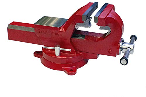 Yost Vises ADI-4, 4 Inch 130,000 PSI Austempered Ductile Iron (ADI) Bench Vise with 360-Degree Swivel Base superseding Yost FSV-4