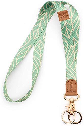 POCKT Lanyard for Keys Neck Lanyard Key Chain Holder for Men and Women - Cool Neck Lanyards for Keys, Wallets and ID Badge Holders   Leaves