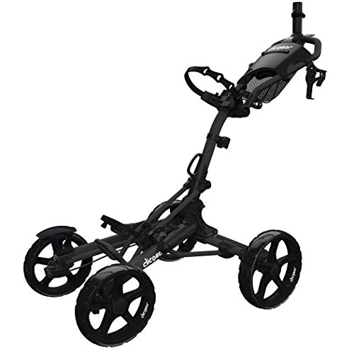 Clicgear Model 8+ | 4-Wheel Golf Push Cart (Black)