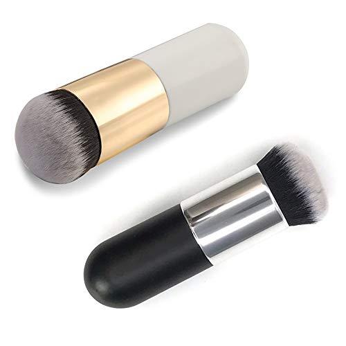 Make-up Pinsel, einzigen Griff große Runde Kopf weiche Foundation Gesichtspuder Pinsel BB Creme Pinsel Kosmetik Make-up-Tool,Foundation Pinsel,Super Geschenkidee(2...