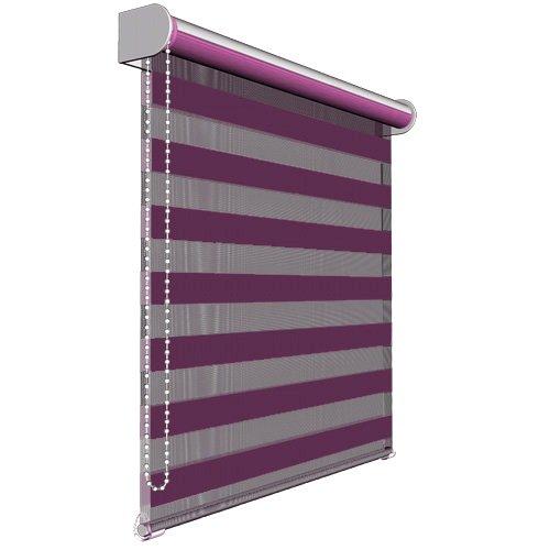 Victoria M. - Estor Doble Enrollable (para Ventanas y Puertas) 140 x 175 cm, Púrpura