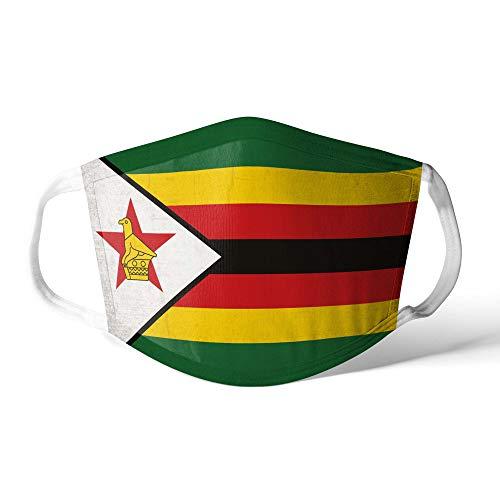 M&schutz Maske Stoffmaske X Groß Afrika Flagge Simbabwe/Simbabwisch Wiederverwendbar Waschbar Weiches Baumwollgefühl Polyester Fabrik