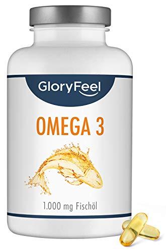Omega 3 - Vergleichssieger 2020* - 400 Kapseln (13 Monate) - 1000mg Fischöl je Kapsel - Essentielle Omega 3 Fettsäuren EPA + DHA - Aus nachhaltiger Fischfang, Laborgeprüft hergestellt in Deutschland