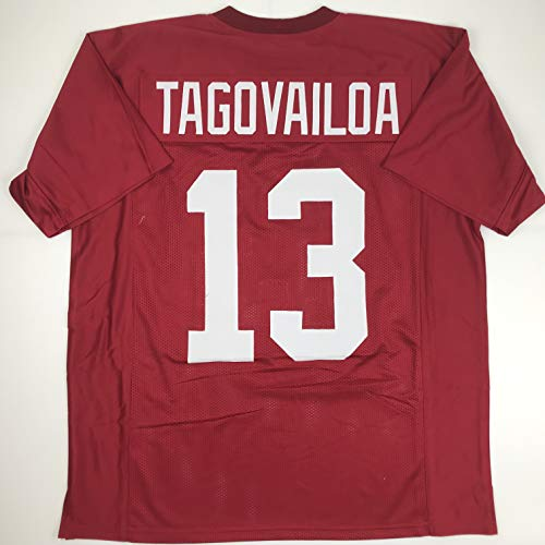 Unsigned Tua Tagovailoa Alabama Crimson College Custom Stitched Football Jersey Size Men's XL New No Brands/Logos
