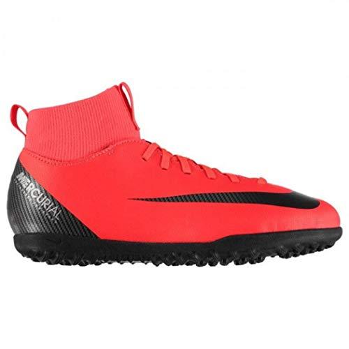 Nike Unisex-Kinder Jr Superfly 6 Club Cr7 Tf Futsalschuhe, Mehrfarbig (Bright Crimson/Black/Chrome 600), 36.5 EU