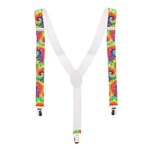 Bretelles hippie arc-en-ciel multicolores - Taille unique - Zacs Alter Ego