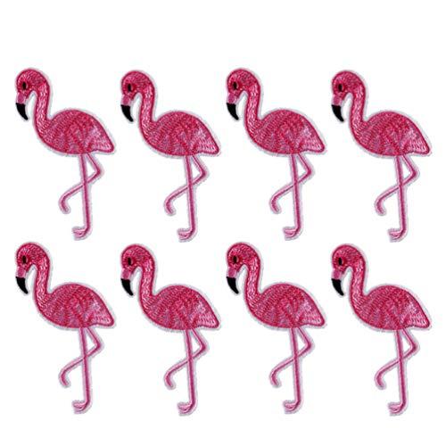 PRETYZOOM Flamingo Patch Iron op Patches Geborduurd Naaien Applique voor DIY Craft Making Jeans Jacket Caps Kostuum Kinderen Kleding Tas 12 Stks