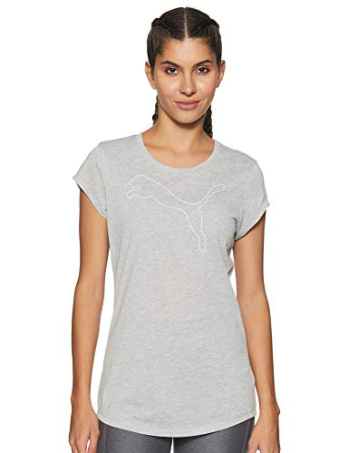 PUMA 851873 T-Shirt Femme Light Gray Heather FR : S (Taille Fabricant : S)