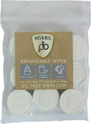 Northcore Pits And Bits 9 Pack Expandable Wipes Surf Tool One Size White