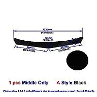 と互換性があります ユニバーサル炭素繊維/黒の車のフロントバンパーlipスプリッタバンパーガードプロテクター-Middle Black A