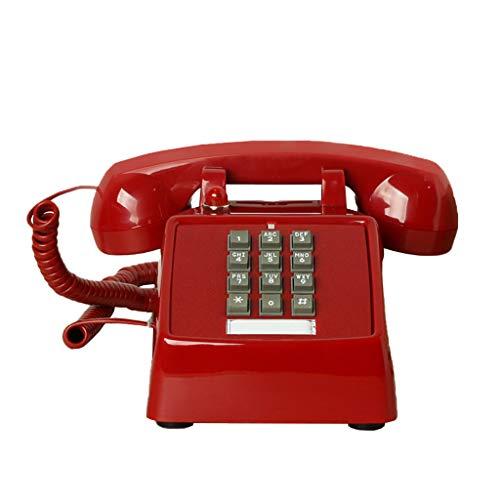 ZARTPMO Teléfono Antiguo Retro Teléfono Fijo Antiguo, teléfono Antiguo Vintage de Escritorio para el hogar/Hotel/Oficina