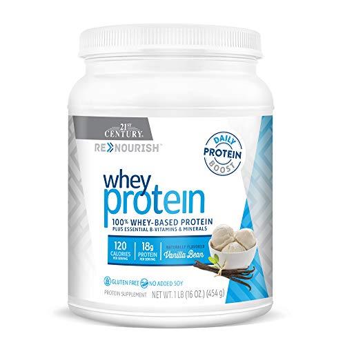 21st Century Renourish Wellness Protein Powder, Vanilla Bean, 1 Pound